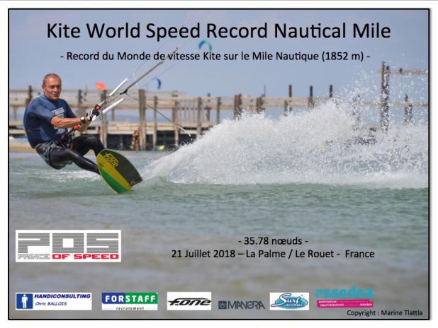 Chris Ballois Recordman du monde de vitesse en kitesurf