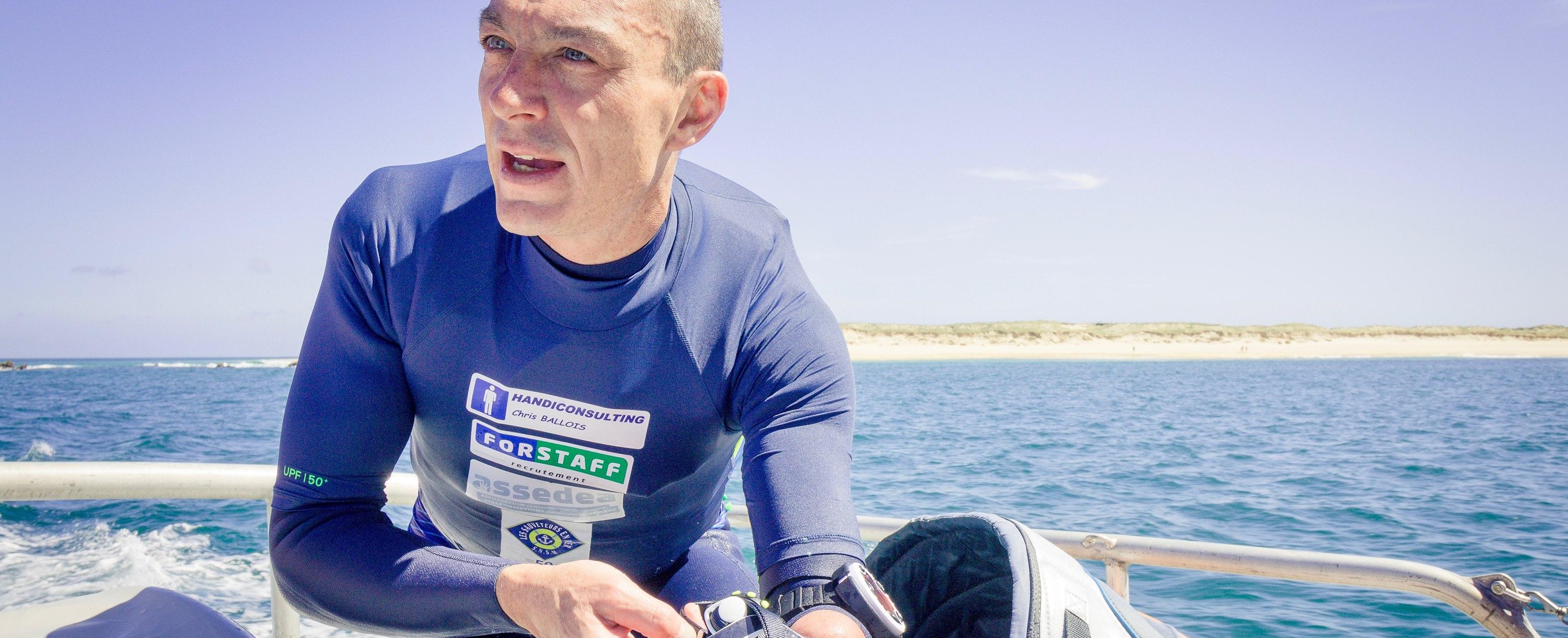 Le Conquet - St Malo : Un nouveau défi kite pour Chris Ballois