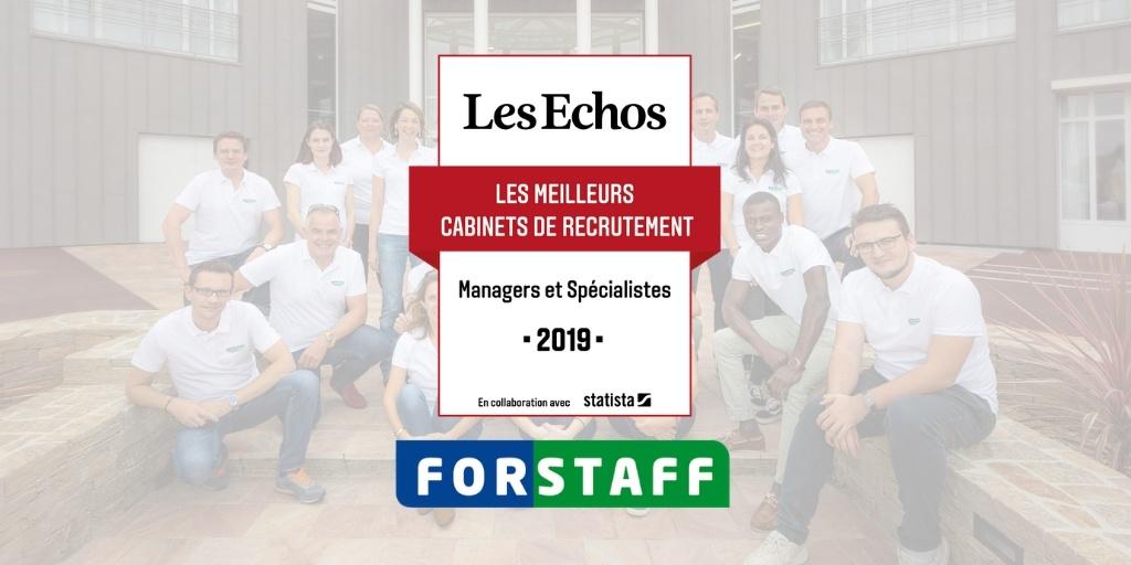 Forstaff: Lauréat du label du «Meilleur cabinet de recrutement 2019»