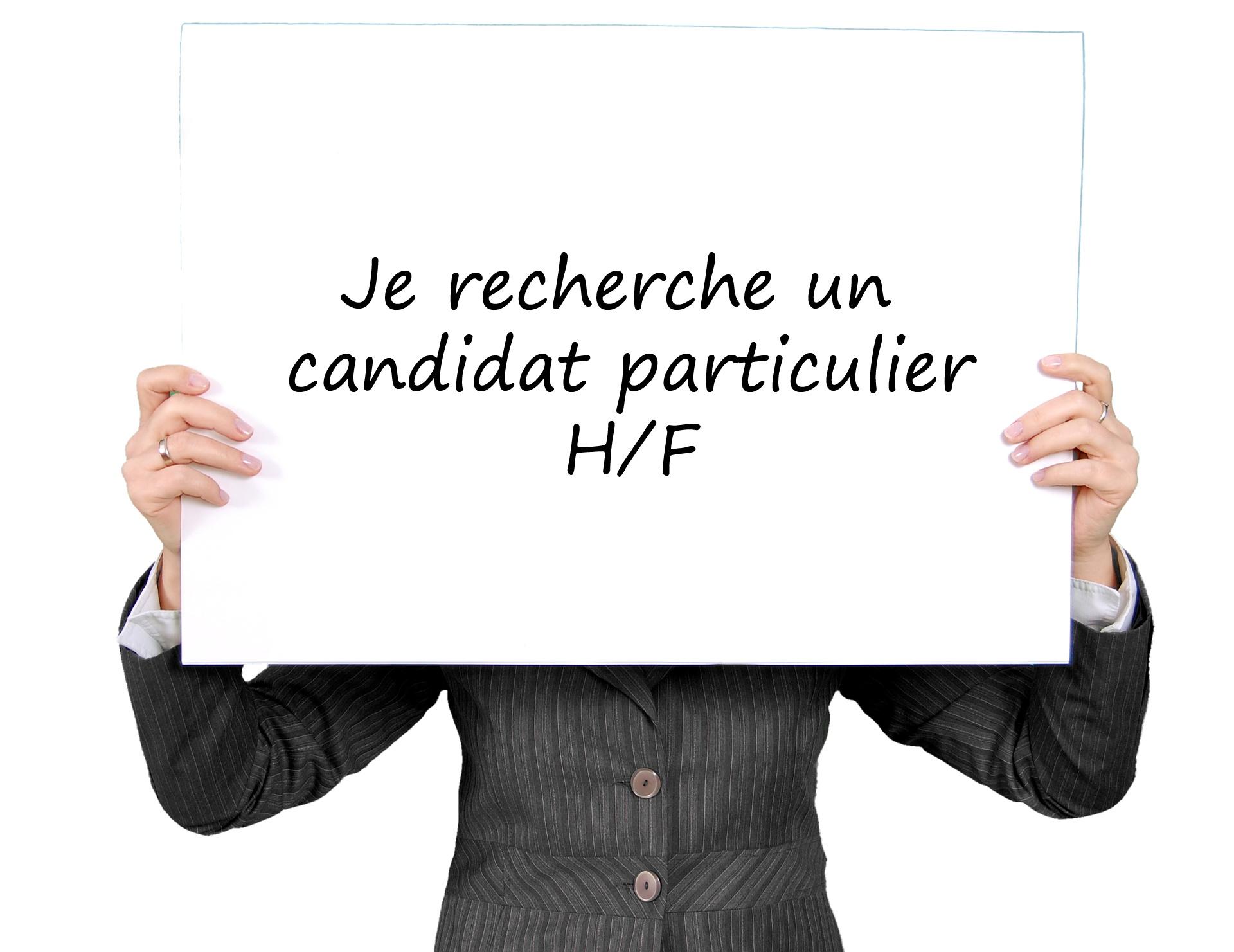 Annonce particulière cherche candidat particulier